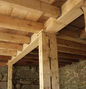 Ceiling Support Beam Faux Rustic Wood And Beams Hometalk